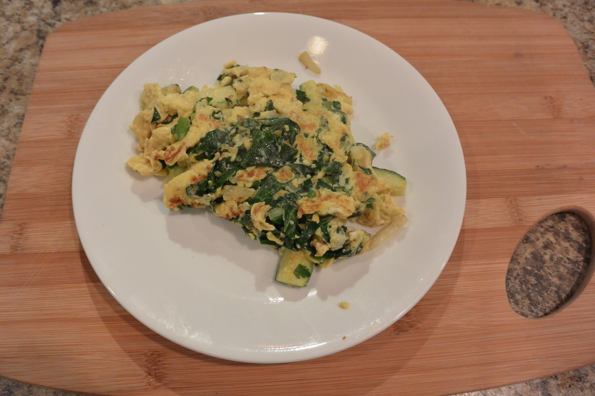 Collard green omelete