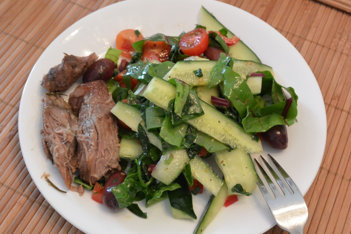 W 6 Mon Lunch Greek Lamb Salad