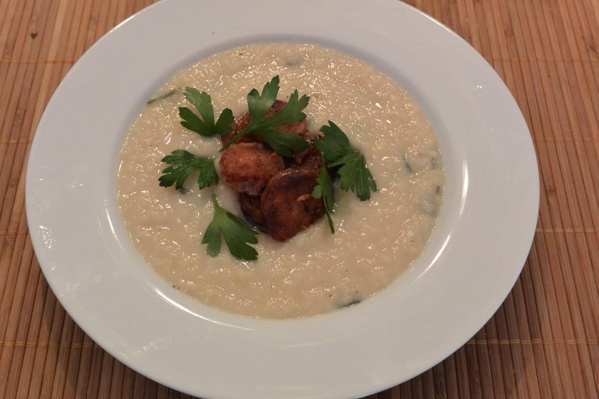 White Bean Chorizzo Soup