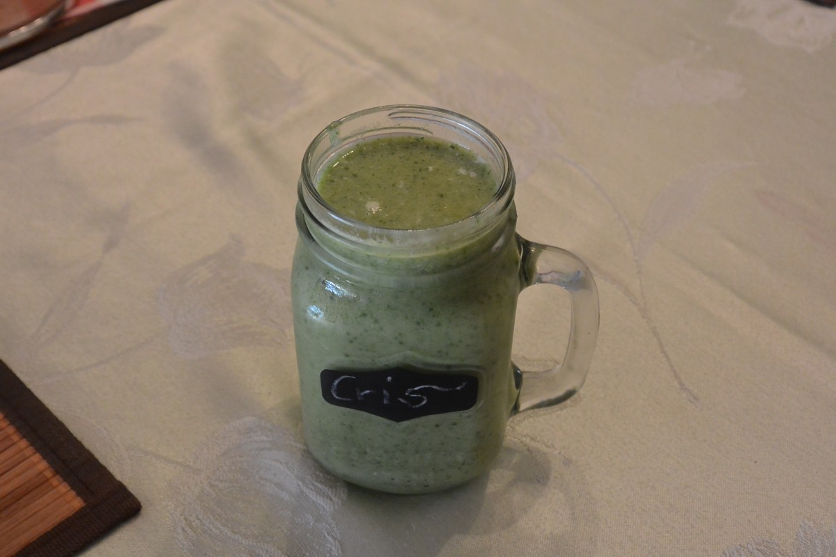 W 4 Mon Bfast Green Vanilla Smoothie