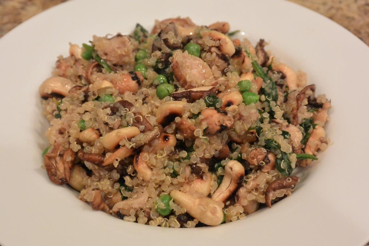 Mixed Mushrooms Quinoa  (2)