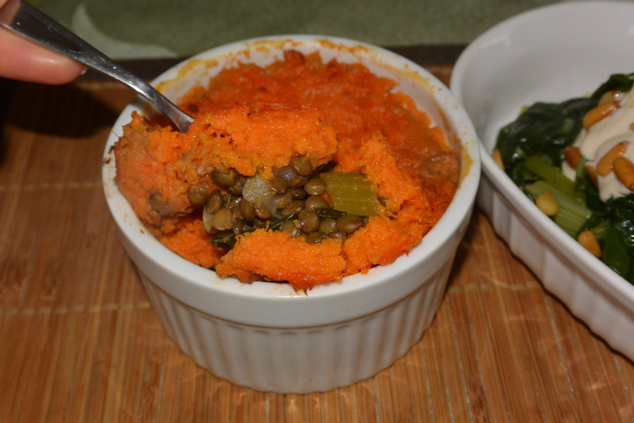 Sweet Potato Lentil Pie (2)