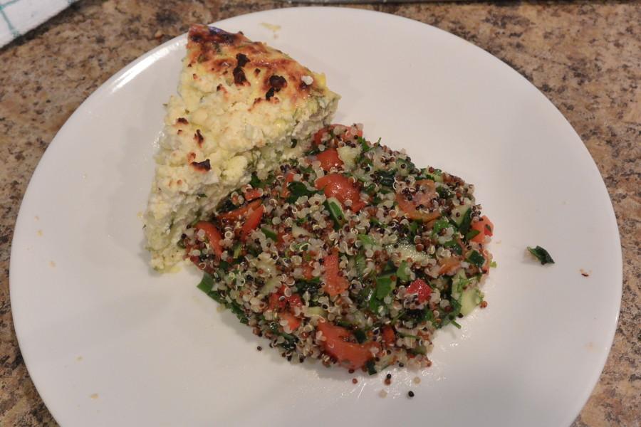 W 5 Sat Dinner Zuchini Cheesecake & Quinoa Tabouleh (1)
