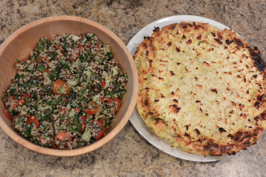 W 5 Sat Dinner Zuchini Cheesecake & Quinoa Tabouleh (6)
