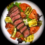 steak-salad-zucchini-salad