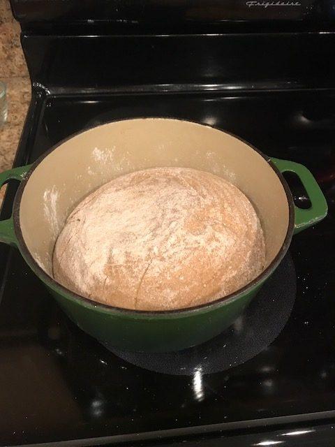 Pão na panela!